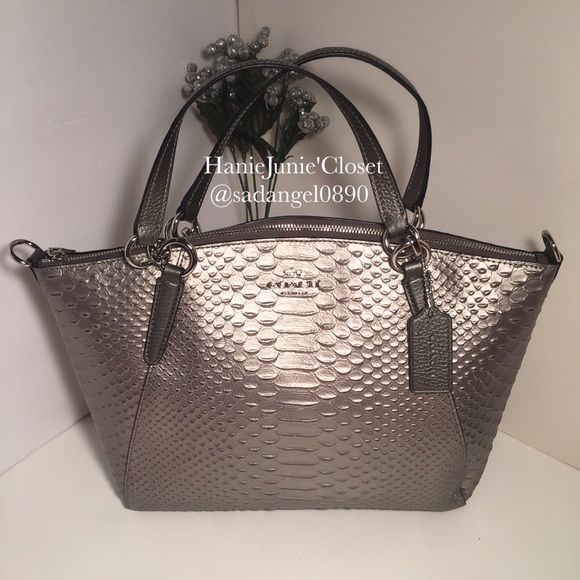 6479ff65a487 COACH SMALL KELSEY PYTHON LEATHER SATCHEL